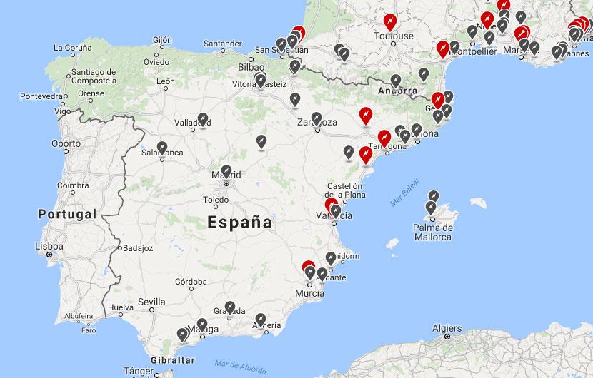Supercargadores proyectados a futuro. Tesla España