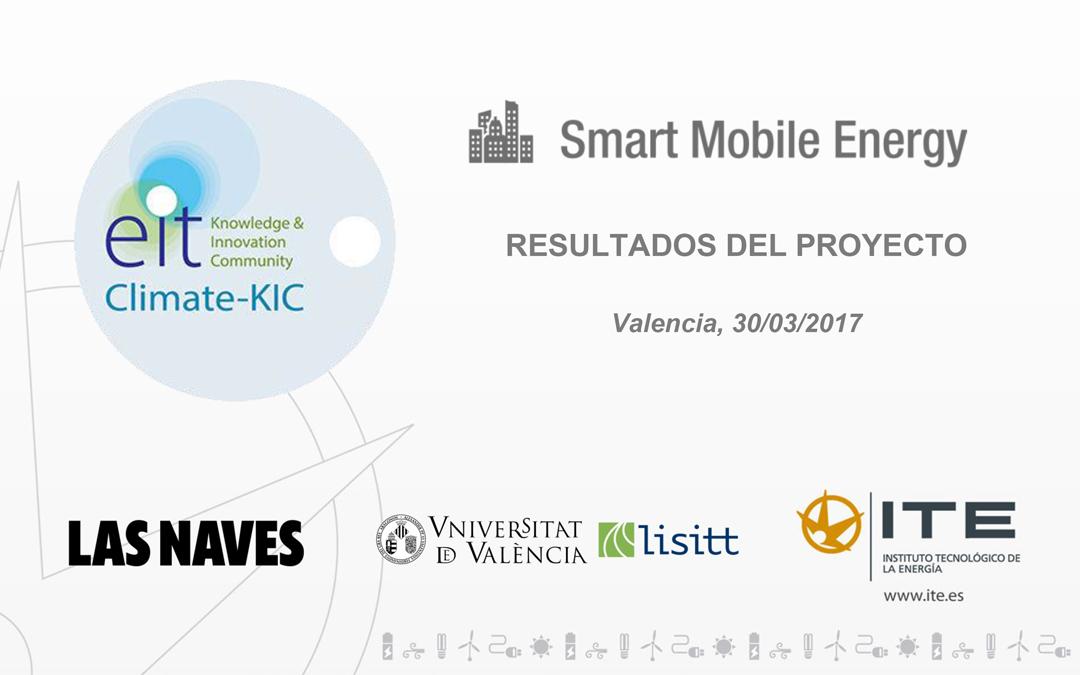 Resultados proyecto Smart Mobile Energy (SME)